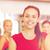 kadın · ayakta · grup · spor · salonu · uygunluk · spor - stok fotoğraf © dolgachov