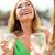 mooie · meisje · glas · champagne · mooie · mooie · vrouw - stockfoto © dolgachov