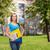 glimlachend · student · zak · mappen · onderwijs - stockfoto © dolgachov