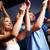 csoport · mosolyog · barátok · koncert · klub · buli - stock fotó © dolgachov