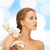mooie · jonge · vrouw · witte · orchidee · ogen · ontwerp - stockfoto © dolgachov