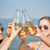 счастливым · питьевой · пива · пляж · лет - Сток-фото © dolgachov