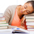 kadın · uyku · hazırlık · sınav · kitap · okul - stok fotoğraf © dolgachov