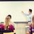 csoport · diákok · tanár · fehér · tábla · oktatás · középiskola - stock fotó © dolgachov