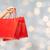 férfi · kéz · tart · bevásárlótáskák · izolált · fehér - stock fotó © dolgachov