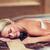 young woman lying on hammam table in turkish bath stock photo © dolgachov