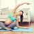 foto · feliz · mujer · embarazada · lectura · cama - foto stock © dolgachov