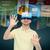 gelukkig · man · virtueel · realiteit · hoofdtelefoon · 3d-bril - stockfoto © dolgachov