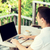 empresário · laptop · terraço · negócio · tempo - foto stock © dolgachov