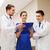 medische · team · bespreken · verslag · ziekenhuis - stockfoto © dolgachov