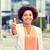 sorridere · african · american · donna · fitness - foto d'archivio © dolgachov