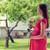 mutlu · hamile · kadın · gül · çiçek · ev · gebelik - stok fotoğraf © dolgachov