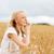 mutlu · genç · kadın · çağrı · ülke · yaz - stok fotoğraf © dolgachov