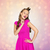 feliz · mulher · jovem · menina · adolescente · rosa · vestir · beleza - foto stock © dolgachov