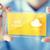 téléphone · portable · nuageux · météorologiques · prévision · nuages - photo stock © dolgachov