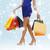 longues · jambes · Shopping · vente · cadeaux · Noël - photo stock © dolgachov