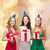gülen · kadın · parti · hediye · kutuları · hediyeler · tatil - stok fotoğraf © dolgachov
