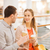 happy couple with shopping bags drinking coffee stock photo © dolgachov