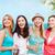meninas · bebidas · praia · verão · férias · férias - foto stock © dolgachov
