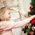 küçük · kız · Noel · mutlu · kız · zencefilli · çörek · ev · ev - stok fotoğraf © dolgachov