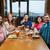 grupo · amigos · Pareja · fiesta · restaurante · hombre - foto stock © dolgachov