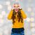 lachend · gek · jonge · vrouw · haren · hoofd · Maakt · een · reservekopie - stockfoto © dolgachov