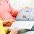 девочек · чтение · журнала · шезлонг · два · молодые - Сток-фото © dolgachov