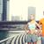 pár · testmozgás · Dubai · város · fitnessz · sport - stock fotó © dolgachov