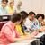 grupo · estudantes · café · escrita · palestra · educação - foto stock © dolgachov