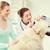 gelukkig · dierenarts · labrador · vrouw · medische · kind - stockfoto © dolgachov