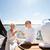 gelukkig · zeil · boot · jacht · zee - stockfoto © dolgachov