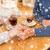 пару · , · держась · за · руки · ресторан · люди · любви - Сток-фото © dolgachov