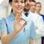 medische · arts · verpleegkundige · helpen · gezocht · teken - stockfoto © dolgachov