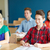 Gruppe · Studenten · Notebooks · Schule · Lektion · Bildung - stock foto © dolgachov