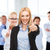 groep · kantoormedewerkers · tonen · business · call · center - stockfoto © dolgachov