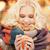sorridente · chá · caneca · de · café · inverno · pessoas - foto stock © dolgachov
