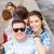 glimlachend · tieners · zonnebril · opknoping · buiten · zomer - stockfoto © dolgachov
