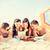 guarda-sol · colorido · areia · praia · céu · sol - foto stock © dolgachov