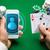 kaszinó · játékos · kártyák · okostelefon · sültkrumpli · online - stock fotó © dolgachov