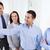 sorridente · pessoas · de · negócios · reunião · escritório · conferência · equipe · de · negócios - foto stock © dolgachov