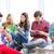 diákok · néz · eszközök · iskola · technológia · internet - stock fotó © dolgachov