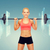 женщину · штанга · фитнес · спорт - Сток-фото © dolgachov