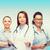 улыбаясь · буфер · обмена · больницу · женщину - Сток-фото © dolgachov