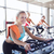 группа · улыбаясь · женщины · спортзал · фитнес - Сток-фото © dolgachov