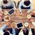 iş · ekibi · içme · kahve · öğle · yemeği · iş · adamları - stok fotoğraf © dolgachov