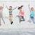 trampoline · gelukkig · meisje · springen · kind · ruimte - stockfoto © dolgachov