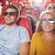heureux · jeunes · famille · lunettes · 3d · regarder · film - photo stock © dolgachov