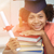 幸せ · アフリカ · 学士 · 少女 · 図書 · 証書 - ストックフォト © dolgachov