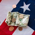 close up of american flag and money stock photo © dolgachov