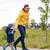 mutlu · baba · küçük · oğul · yürüyüş · açık · havada - stok fotoğraf © dolgachov